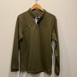 NEW Nike Men's Cotton Blend LS Golf Polo